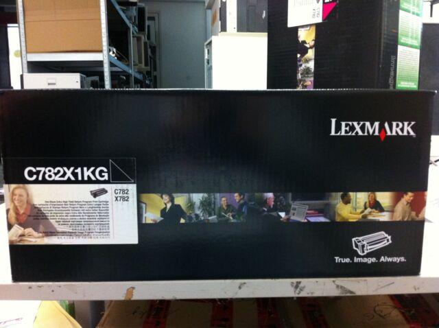 original Lexmark C782X1KG Toner  neu  Schwarz Black  C782 A-Ware