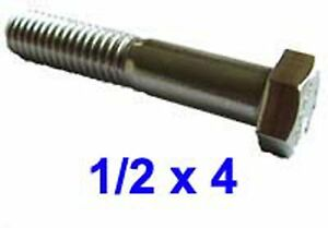 """Stainless Steel 1//2-20 X 1 1//2/"""" UNF Hex Bolt pack  of 2"""