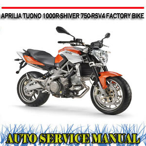 aprilia tuono 1000r shiver 750 rsv4 factory bike workshop service rh ebay com au BMW Workshop Manual aprilia rsv4 workshop manual pdf