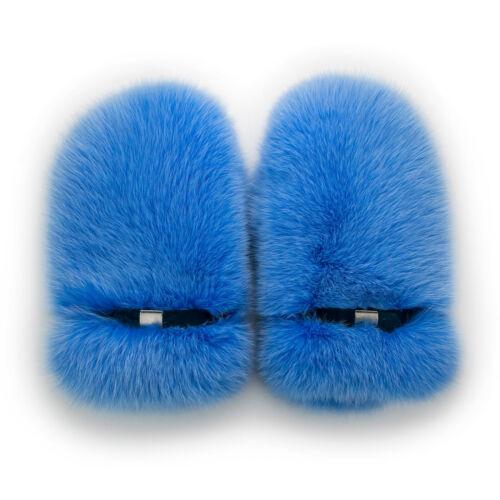 Arctic Fox Fur Mittens Saga Furs Light Blue Fur Mittens