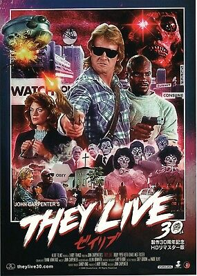 Flyer John Carpenter Japanese Mini Poster Chirashi Japan B5 They Live 30th An