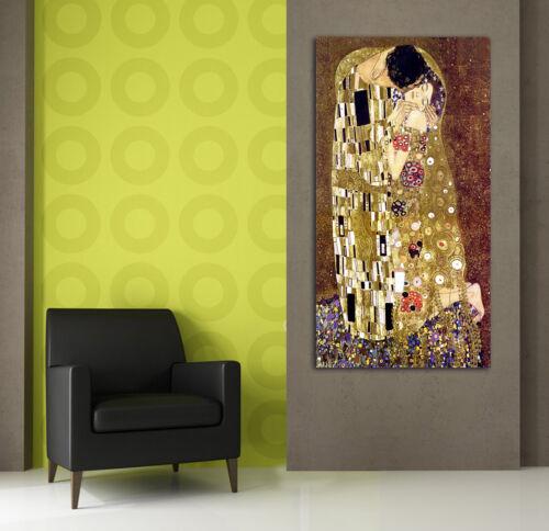 Stampa su tela Quadro moderno IL BACIO di Klimt Arredamento Arte Arredo Casa