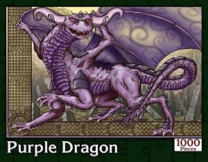 Purple-Dragon-1000-Piece-Fantasy-Jigsaw-Puzzle-New-Sealed-in-Numbered-Box