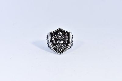 100% QualitäT Vintage Silber Lilie Edelstahl Größe 10 Ring Keine Kostenlosen Kosten Zu Irgendeinem Preis