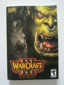 World of Warcraft III 3 Reign of Chaos Game Manual PC Blizzard Entertainment