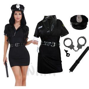 acc3b570678 Detalles acerca de Mujer Policía Disfraz de Halloween Vestido de fantasía  sexy traje de conjuntos de uniforme oficial- mostrar título original