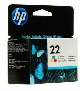 HP #22 C9352AN Color Ink Cartridge Genuine New