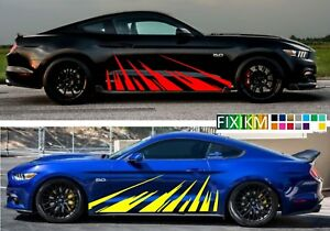 Racing Graphics Decals Sport Car Stickers Body Side Decor Aggressive