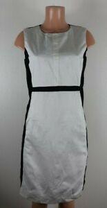 'S Max Mara Women's Size 10 Black Beige Sheath Dress Sleeveless Pockets