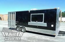 New 85 X 24 Enclosed Food Vending Mobile Kitchen Concession Catering Trailer