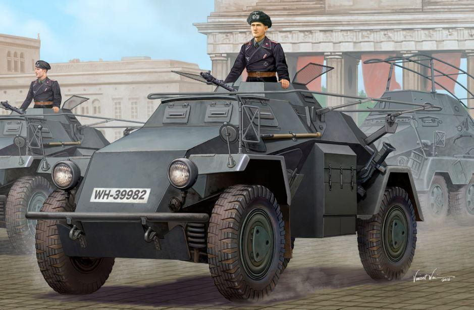 83817 HOBBYBOSS German Sd.Kfz.223 Le.Pz.Sp.Wg 1st Armored Car Tank 1 35 Model