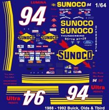 #94 Terry Labonte Sunoco Olds 1988-92 1/64th HO Scale Slot Car Decals