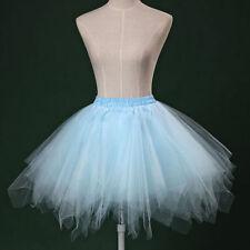 Sky Blue Adult Girl TUTU Pettiskirt Ballet Rockabily Dance Fluffy Tutu Skirt