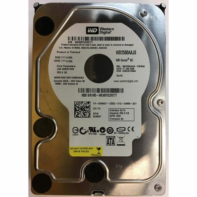 Western Digital 250GB, 7200RPM, SATA - WD2500AAJS-75VWA0