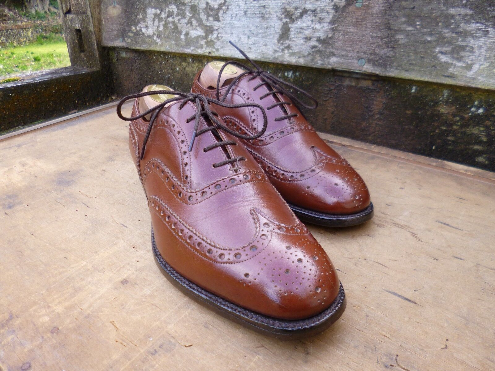 CHURCH BROGUES – braun   TAN - UK 7 – CHETWYND - EXCELLENT-AS WORN BY JAMES BOND