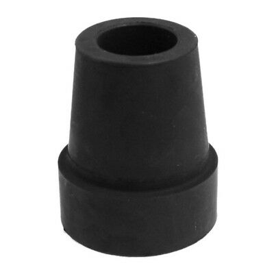 "19mm 3/4"" Black Rubber Skid Resistant Cane Pad Crutch Tip ED"
