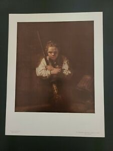 "Rembrandt National Gallery of Art Print  ""A Girl With a Broom"" - Un-Framed"