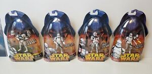 $80 value- Lot of 4 STAR WARS ROTS Clone Troopers MOC 38-AT-TE 33-COMMANDER 41 6