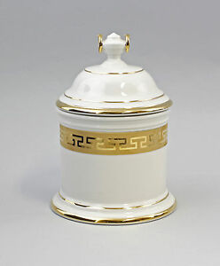 Decorative Arts Porcelain Covered Dish Gold Biscuit Tin Kämmer 5 7/8x8 5/16in 9944284 High Quality Materials