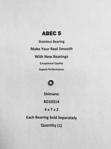 Shimano Sustain 2500FE  Line Roller Bearing RD10314 ABEC5 Stainless 4x7x2 #05