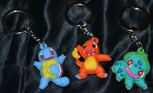 Set of 3 keychains evoulations of bulbasaur