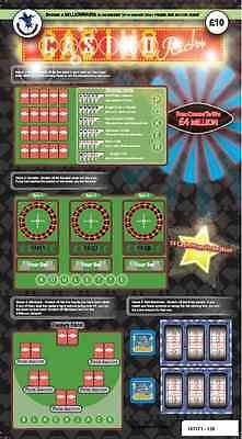 FAKE JOKE £10 LOTTERY SCRATCH CARDS TICKETS BEST ON EBAY!!!