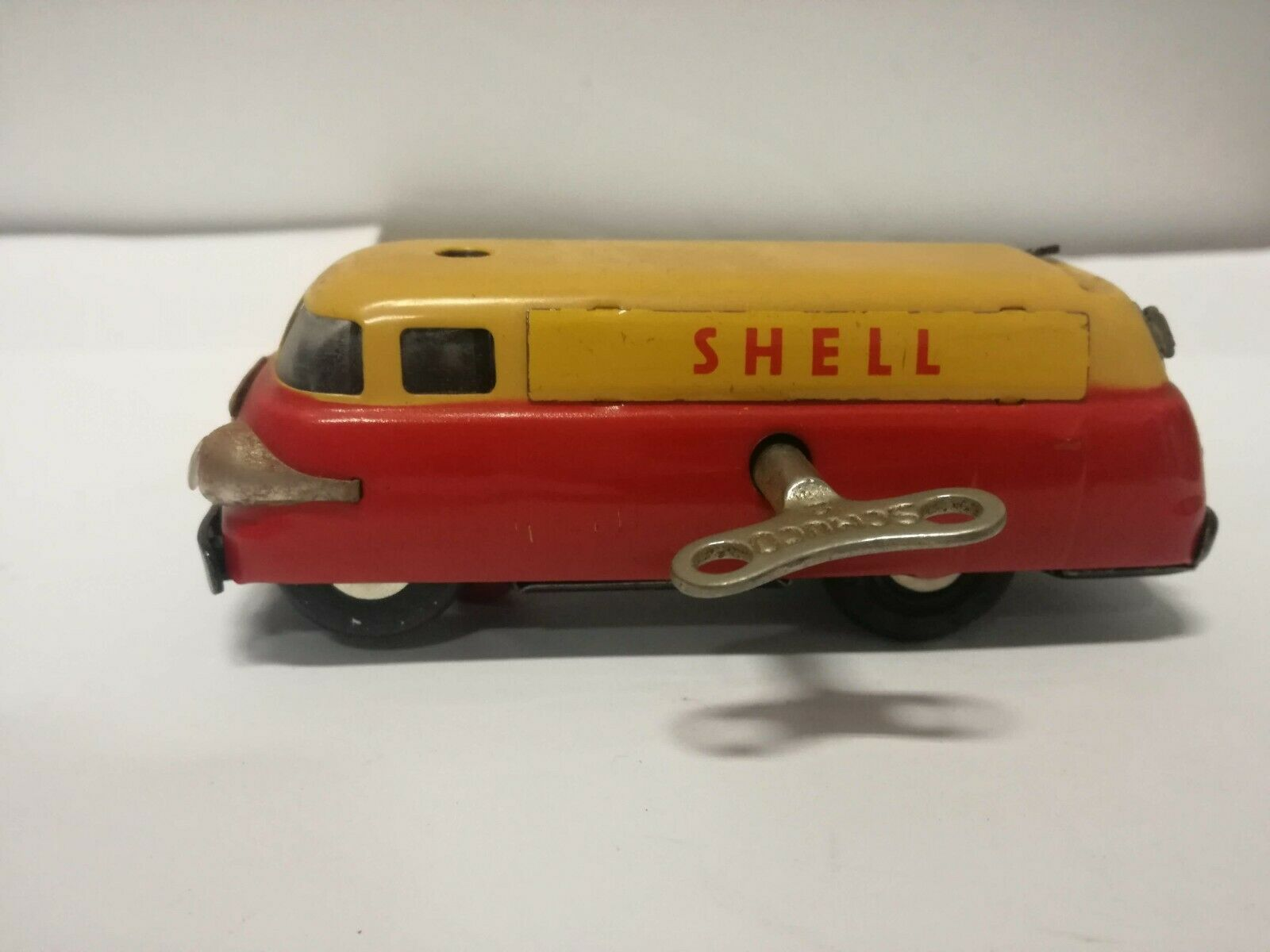 SCHUCO SHELL TRUCK TANKER VARIANTO 3046 CLOCKWORK WINDING KEY 1956 CAR MODEL