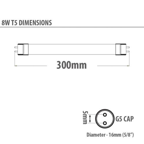 "Lot de 2 Tube fluorescnet T5 8W 12/"" 300mm 30cm couleur 835 3500K blanc standard"