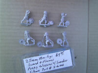 25mm Mini Figs Sword & Flame Fuzzy Wuzzy W/ Swords & Spears