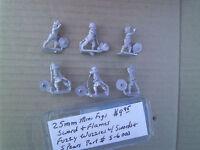 25mm Mini Figs Sword & Flame Fuzzy Wuzzy W/ Swords & Spears