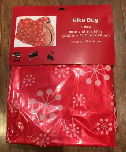 "New Wondershop Large Bike Gift Bag Red Snowflakes 80/""x18/""x39/"" Christmas Holiday"