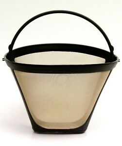 NEW-Universal-Gold-Tone-Permanent-4-Cone-Coffee-Filter-Fits-Cuisinart-Brewers