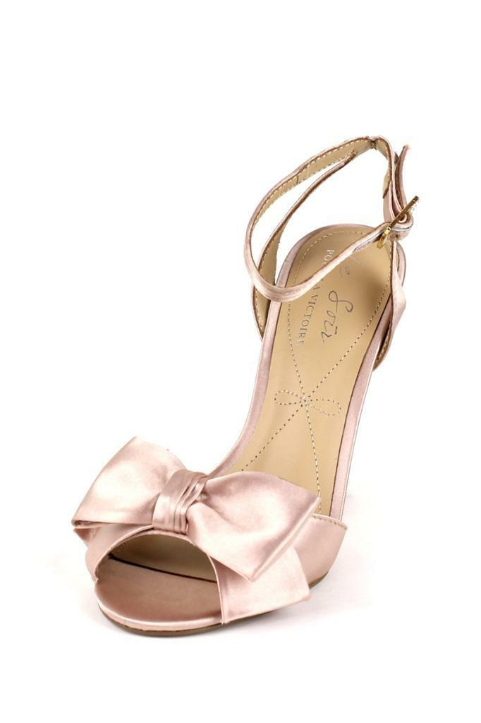 Le Damens Soir Pour La Victoire Damens Le Evelia NUDE Wedge Sandale Bow High Heel Peep Toe af6696