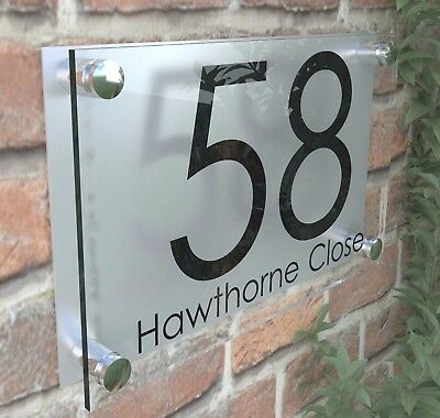 a0b3f94df09b Details about PERSPEX HOUSE SIGNS / PLAQUE / DOOR / NUMBERS / PERSONALISED  ACRYLIC / PLAQUES