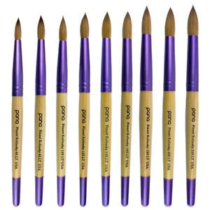 Image Is Loading Usa Top Quality Kolinsky Acrylic Round Nail Brush