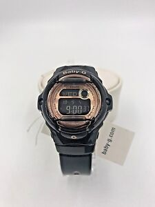 Details About Casio Watch Bg169g 1 Women S Baby G Rose Gold Black Digital Dial Black Resin New