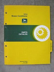Details about John Deere 1214 Series Mower Conditioner Parts Catalog Manual  ORIGINAL