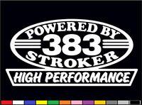 2 High Performance 383 Stroker Decals Hp 350 400 V8 5.7 Engine Emblem Stickers