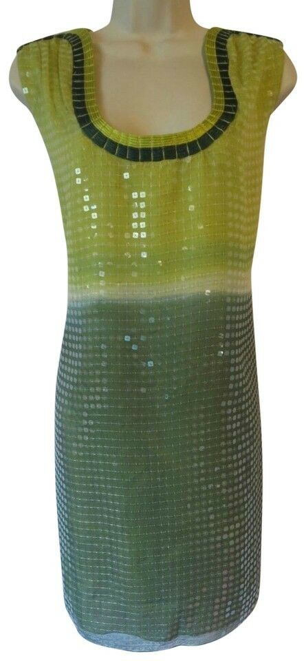 448 NWT NEW Max Studio Special Edition L dress lots of sequins green