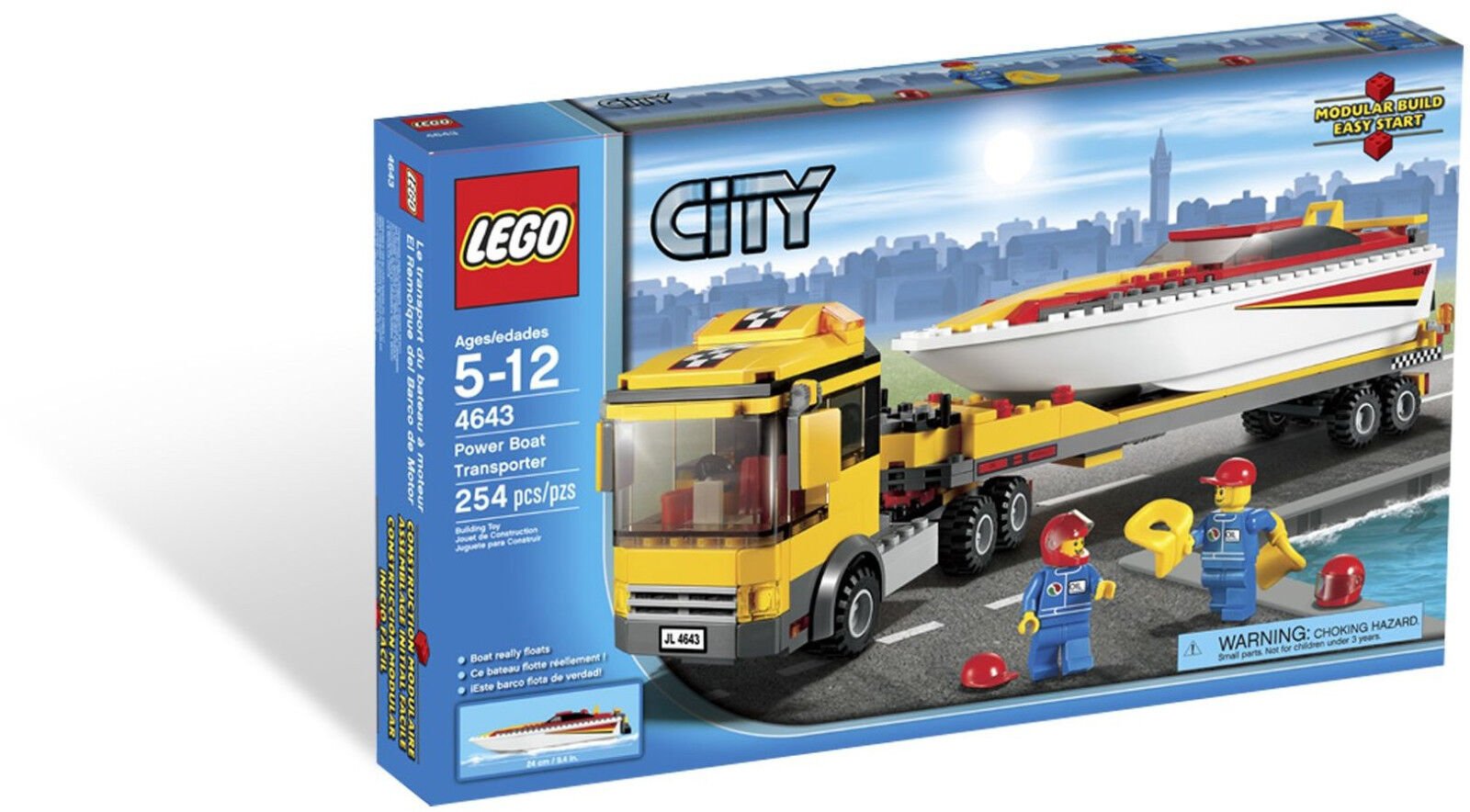 LEGO City - 4643 Power Boat Transporter - Neu & & & OVP be466e