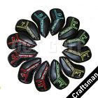 12X Craftsman Golf Iron Club Head Cover For PXG Titleist AP2 Mizuno Cleveland