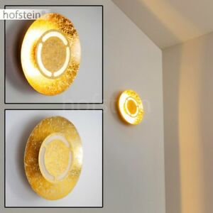 runde-LED-Wand-Lampen-Design-Flur-Dielen-Schlaf-Wohn-Zimmer-Leuchten-Goldfarben