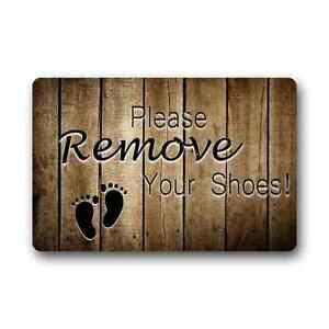 Non slip floor mat durable non woven fabric please remove your shoes doormat ebay - Remove shoes doormat ...