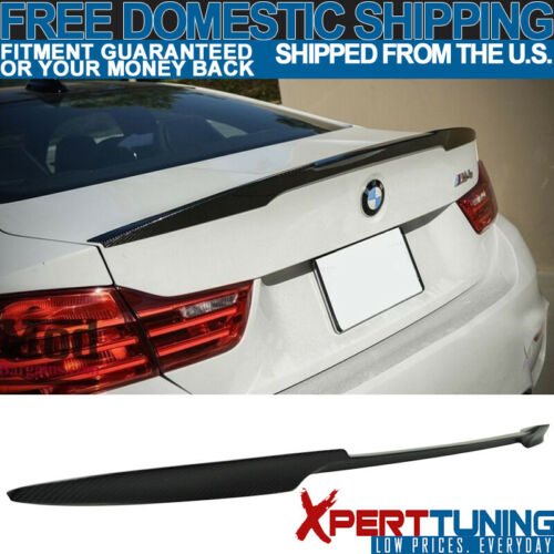 Fit 12-20 BMW 3 Series F80 F30 V M4 Style Trunk Spoiler Wing Carbon Fiber CF