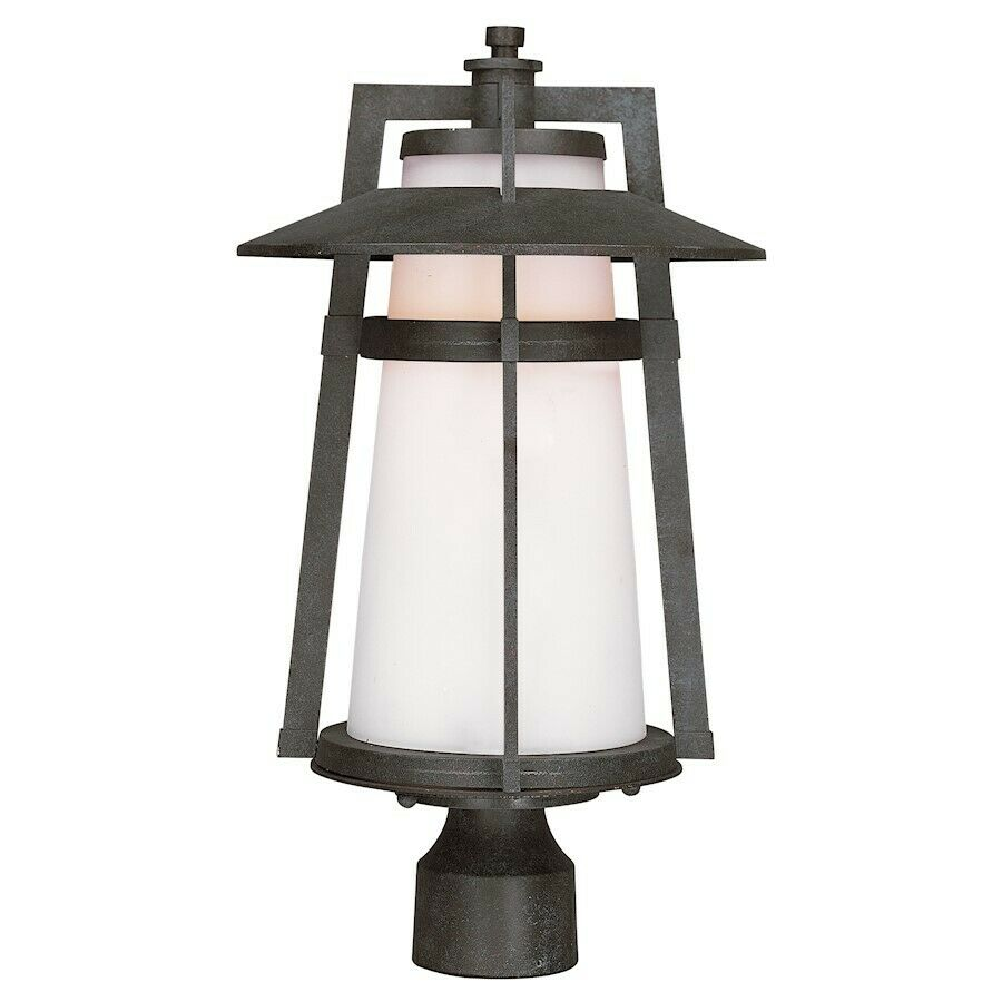 Maxim Lighting Calistoga 1-Light Outdoor Pole Post Lantern in Adobe - 3530SWAE