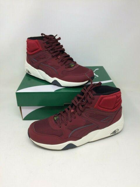 New In Box! Men's Puma R698 Winter Sneaker 359131 CabernetRio RedWhite 43V