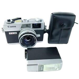 Canon Canonet Ql17 Giii Ql 35mm Vintage Film Rangefinder Camera Canolite D Flash Ebay