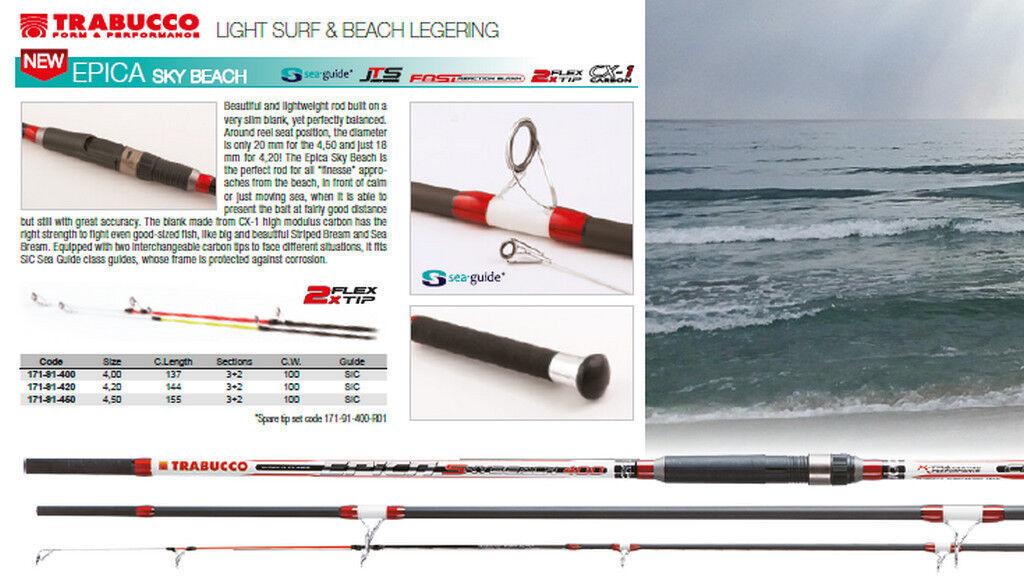 Trabucco Epica Beach 100g Light Surf Casting Angel 2 tipps 4.0 -4.5 m
