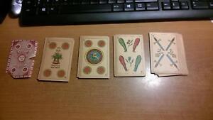 40 cartes à jouer au tarot antique Atodos Alumbra 1878 Naypes Refinos Rare Deck