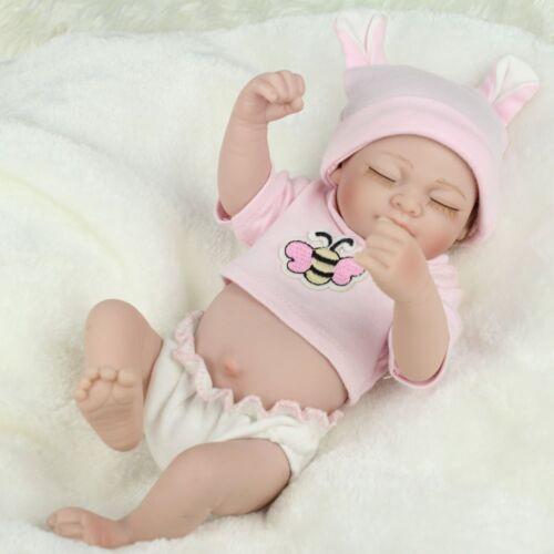 10'' Reborn Doll Realistic Sleeping Full Silicone Vinyl Newborn Baby Dolls Gifts